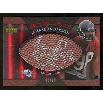 2007 Upper Deck Sweet Spot Pigskin Signatures Red #AN Jamaal Anderson /15