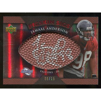 2007 Upper Deck Sweet Spot Pigskin Signatures Red #AN Jamaal Anderson /15