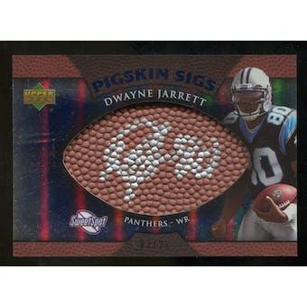 2007 Upper Deck Sweet Spot Pigskin Signatures Blue #DJ Dwayne Jarrett /20
