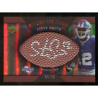 2007 Upper Deck Sweet Spot Pigskin Signatures Bronze #SS2 Steve Smith USC /25