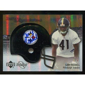 2007 Upper Deck Sweet Spot Rookie Signatures Gold #122 Gary Russell /5