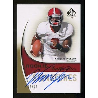2010 Upper Deck SP Authentic Gold #144 Kareem Jackson RC Autograph 16/25