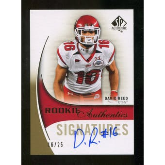 2010 Upper Deck SP Authentic Gold #173 David Reed RC Autograph 16/25