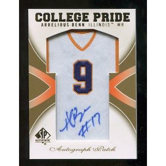 2010 Upper Deck SP Authentic College Pride Patch Autographs #AB Arrelious Benn Autograph