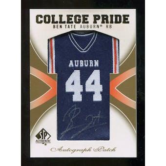 2010 Upper Deck SP Authentic College Pride Patch Autographs #BT Ben Tate Autograph