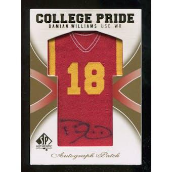 2010 Upper Deck SP Authentic College Pride Patch Autographs #DW Damian Williams Autograph