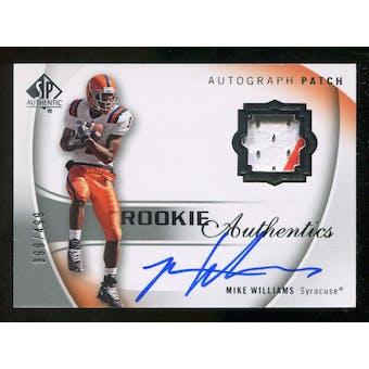 2010 Upper Deck SP Authentic #117 Mike Williams RC Patch Autograph 399/499