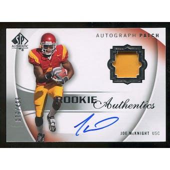 2010 Upper Deck SP Authentic #125 Joe McKnight RC Patch Autograph 79/499