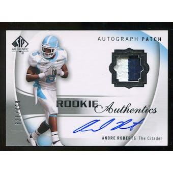 2010 Upper Deck SP Authentic #134 Andre Roberts Jersey Autograph /499