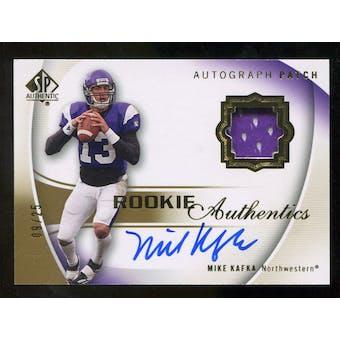 2010 Upper Deck SP Authentic Gold #118 Mike Kafka RC Patch Autograph /25