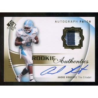 2010 Upper Deck SP Authentic Gold #134 Andre Roberts RC Patch Autograph 25/25