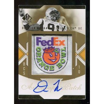 2010 Upper Deck SP Authentic Championship Patch Autographs #DM Derrick Morgan Autograph