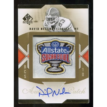 2010 Upper Deck SP Authentic Championship Patch Autographs #DN David Nelson Autograph