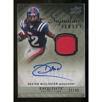 2010 Upper Deck Exquisite Collection Signature Jersey #ESJDM Dexter McCluster Autograph /99