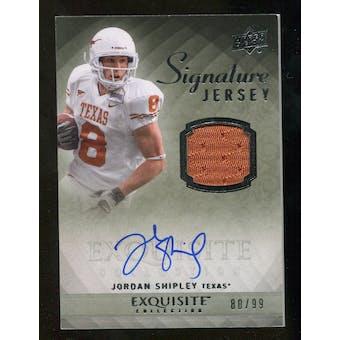 2010 Upper Deck Exquisite Collection Signature Jersey #ESJSH Jordan Shipley Autograph /99