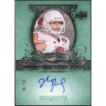 2010 Upper Deck Exquisite Collection Endorsements #ESH Jordan Shipley Autograph 36/50