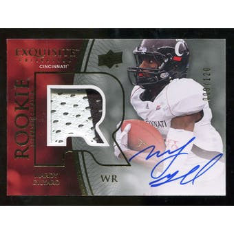 2010 Upper Deck Exquisite Collection #127 Mardy Gilyard RC Patch Autograph /120