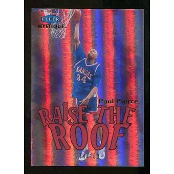 2012/13 Upper Deck Fleer Retro 99-00 Mystique Raise the Roof #6RR Paul Pierce /100