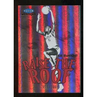 2012/13 Upper Deck Fleer Retro 99-00 Mystique Raise the Roof #15RR Bill Russell /100