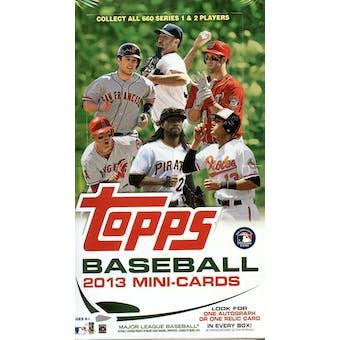 2013 Topps Baseball Mini Cards Hobby Box