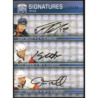 2008/09 Upper Deck Be A Player Signatures Trios #S3TOB Jeff Tambellini Kyle Okposo Josh Bailey Autograph 12/35