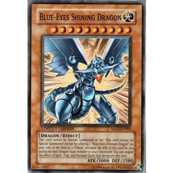 Yu-Gi-Oh Promo Single Blue-Eyes Shining Dragon Super Rare (MOV-EN001) - NEAR MINT (NM)