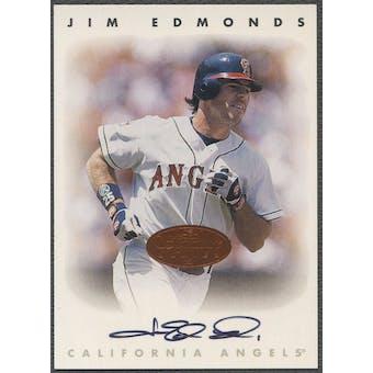 1996 Leaf Signature #62 Jim Edmonds Auto