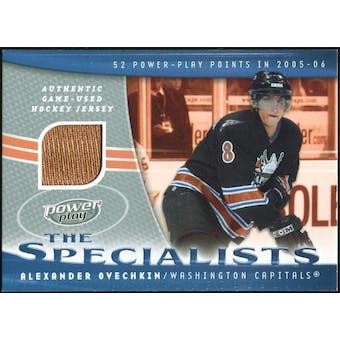 2006/07 Upper Deck Power Play Specialists Jerseys #SAO Alexander Ovechkin