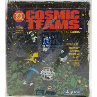 DC Cosmic Teams Wax Box (1993 Skybox)