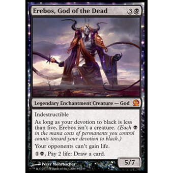 Magic the Gathering Theros Single Erebos, God of the Dead Foil - NEAR MINT (NM)