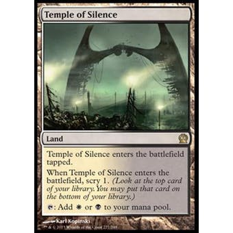 Magic the Gathering Theros Single Temple of Silence Foil - NEAR MINT (NM)