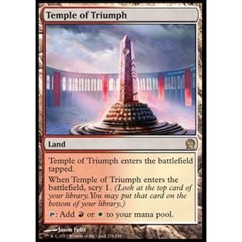 Magic the Gathering Theros Single Temple of Triumph Foil - NEAR MINT (NM)