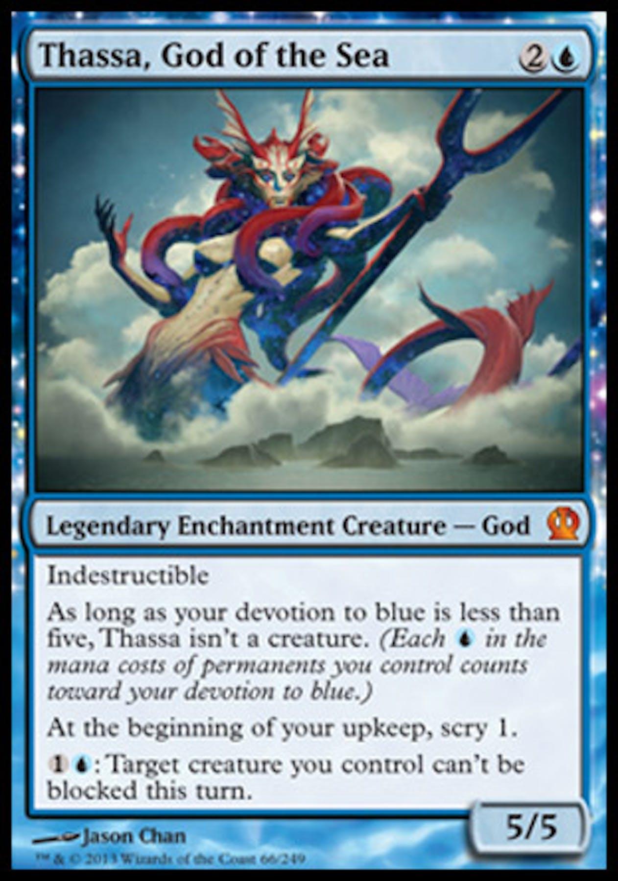 Magic The Gathering Theros Single Thassa God Of The Sea Near