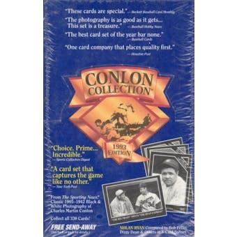 1993 Conlon Collection Baseball Hobby Box