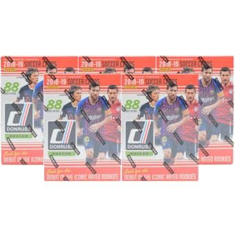 2018/19 Panini Donruss Soccer 11-Pack Blaster Box (Lot of 5)