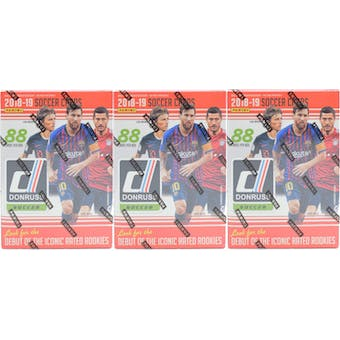 2018/19 Panini Donruss Soccer 11-Pack Blaster Box (Lot of 3)