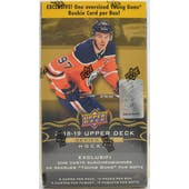 2018/19 Upper Deck Series 1 Hockey 10-Pack Blaster Box (Lot of 3)