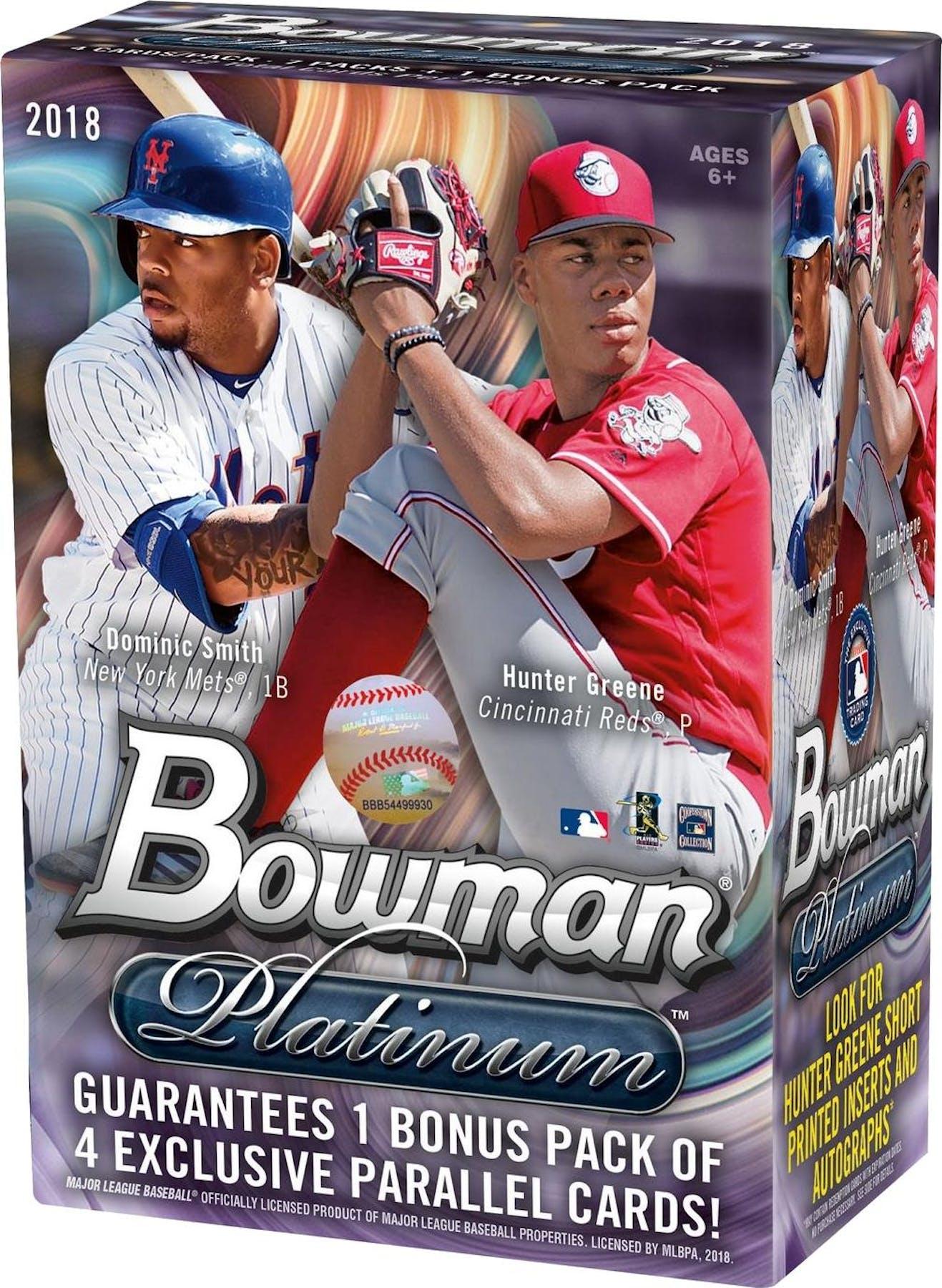 2018 Topps Bowman Platinum Baseball 8 Pack Blaster Box