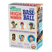 2018 Topps Heritage High Number Baseball 8-Pack Blaster Box