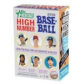 2018 Topps Heritage High Number Baseball 8-Pack Blaster Box