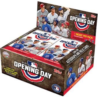 2018 Topps Opening Day Baseball Hobby Box