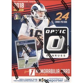 2018 Panini Donruss Optic Football 6-Pack Blaster Box (Red)