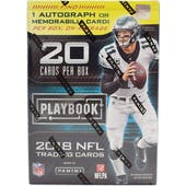 2018 Panini Playbook Football 4-Pack Blaster Box