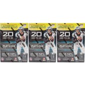 2018 Panini Playbook Football 4-Pack Blaster Box (Lot of 3)