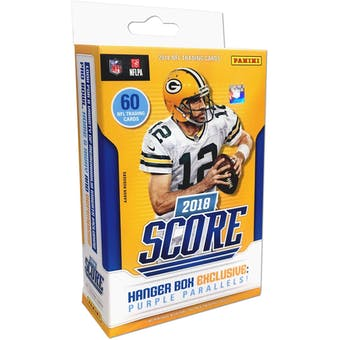 2018 Panini Score Football Hanger Box (Lot of 5)