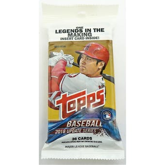 2018 Topps Update Series Baseball Jumbo Fat Pack