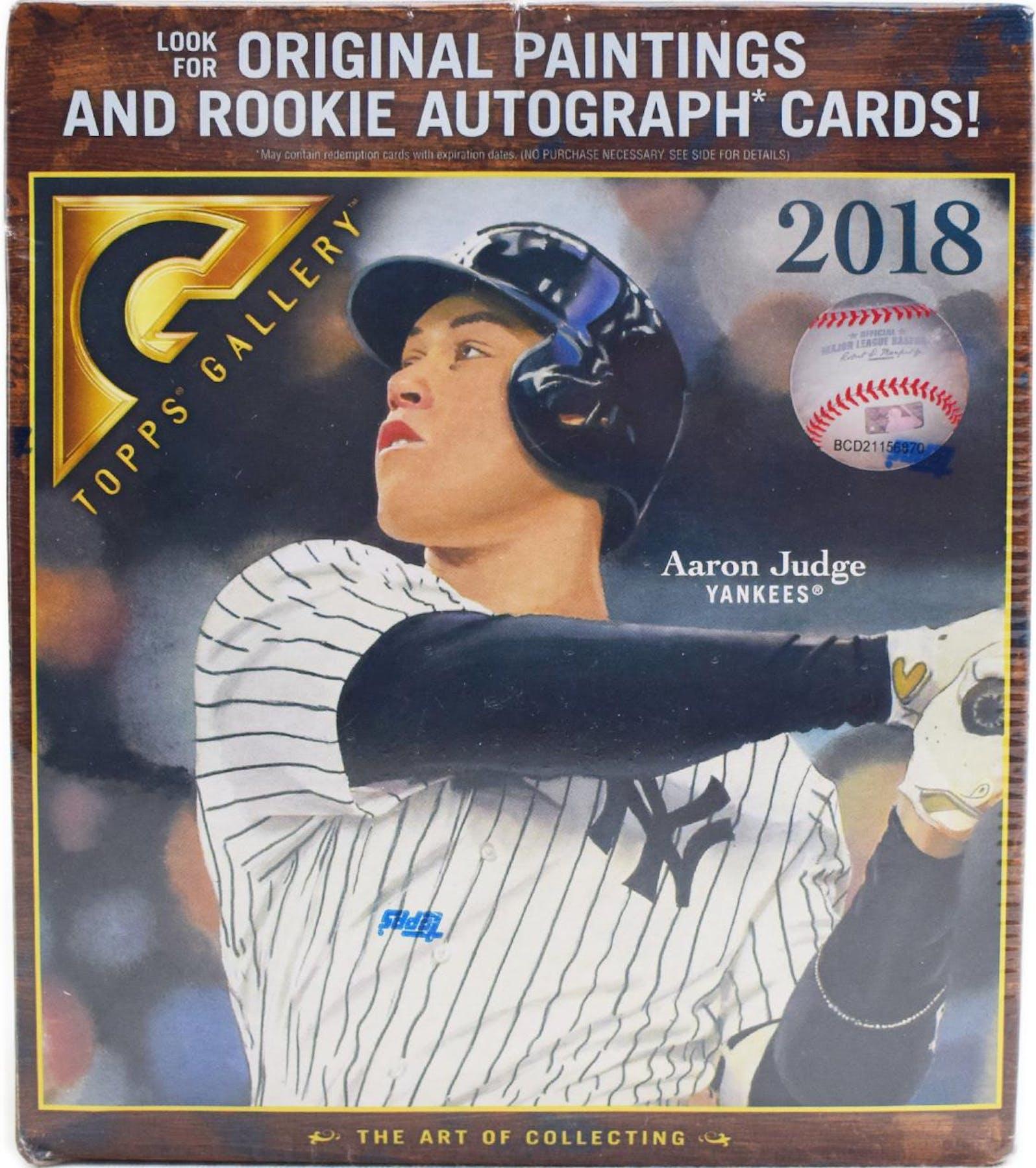 2018 Topps Gallery Baseball 20 Pack Box