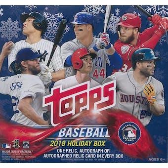 2018 Topps Holiday Baseball Mega Box