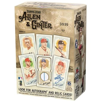 2018 Topps Allen & Ginter Baseball 8-Pack Blaster Box