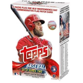 2018 Topps Series 2 Baseball 10-Pack Blaster Box